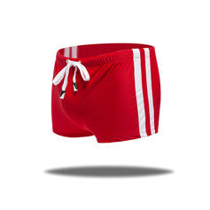 Men's Solid Color Lined Padded Swim Trunks