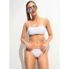 Solid Color Low Waist Strap Sexy Bikinis Swimsuits
