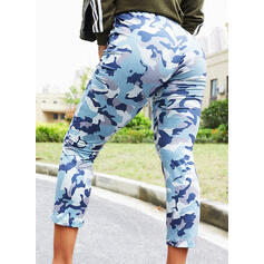 Print Casual Long Pants
