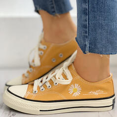 Women's Canvas Casual Outdoor With Lace-up Flower shoes