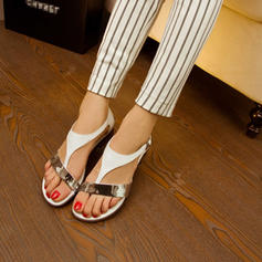 PU Flat Heel Sandals Flats With Others shoes