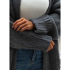 Polyester Cotton Long Sleeves Plain Wide-Waisted Coats