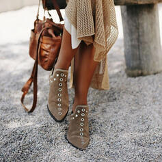 Women's PU Chunky Heel Ankle Boots Pointed Toe With Rivet shoes
