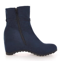 Women's Suede Wedge Heel Wedges Boots Ankle Boots shoes