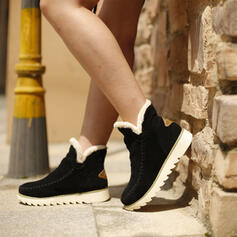 Women's Suede Wedge Heel Snow Boots Winter Boots With Solid Color shoes