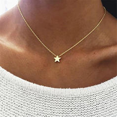 Star Shaped Alloy Women's Necklaces