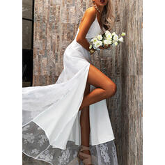 Lace/Solid/Backless Sleeveless A-line Slip/Skater Sexy/Party Maxi Dresses