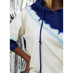 Tie Dye Hoodie Long Sleeves Casual Blouses