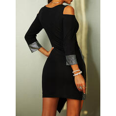 Sequins 3/4 Sleeves Sheath Above Knee Elegant Dresses