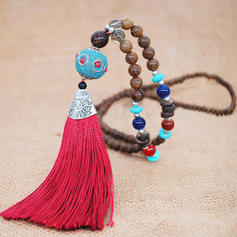 Fashionable Exotic Classic Alloy Wooden Beads Women's Fashion Necklace