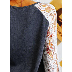 Dentelle Col rond Manches longues Sweat-shirts