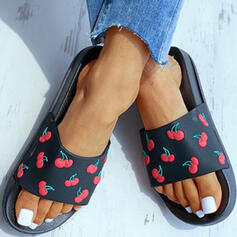 Women's Plastics Flat Heel Sandals Slippers With Others shoes