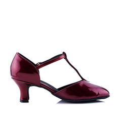 Women's Ballroom Heels Pumps Leatherette With T-Strap Modern