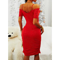 Print Short Sleeves Bodycon Above Knee Sexy/Party Dresses