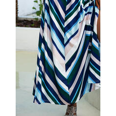 Striped/Backless Sleeveless A-line Wrap/Skater Sexy/Party Maxi Dresses