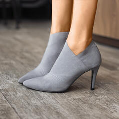 Women's Cloth Stiletto Heel Ankle Boots With Others shoes