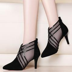 Women's PU Stiletto Heel Pumps With Braided Strap shoes