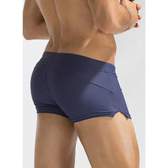 Men's Solid Color Briefs Swimsuit