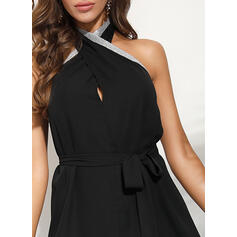 Solid Sleeveless Sheath Party/Elegant Midi Dresses