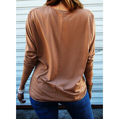 Print Sequins V-Neck Long Sleeves Casual Blouses