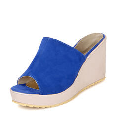 Women's Suede Wedge Heel Sandals Wedges Slippers With Others shoes