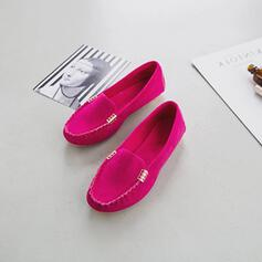 Women's Cloth Flat Heel Flats With Beading Solid Color shoes