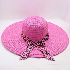 Ladies' Unique Raffia Straw With Bowknot Beach/Sun Hats