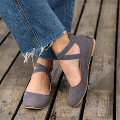 Women's PU Flat Heel Flats With Zipper Lace-up Others shoes