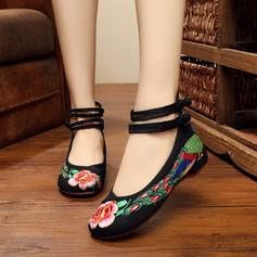 Women's Fabric Flat Heel Flats With Flower shoes