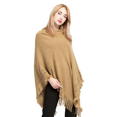 Solid Color/Tassel Oversized/Cold weather Poncho