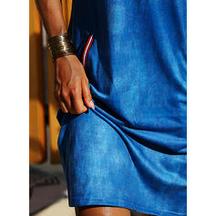 Solid Short Sleeves Bodycon Knee Length Casual Pencil Dresses