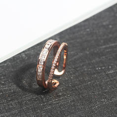 Beautiful Alloy Zircon With Zircon Ladies' Rings (Sold in a single piece)