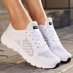 Women's Cloth Mesh Flat Heel Flats Round Toe Sneakers With Hollow-out Solid Color shoes