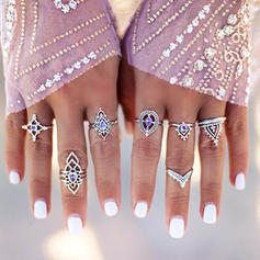 Unique Lovely Alloy With Imitation Crystal Rings