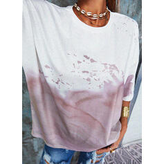 Tie Dye Col Rond Manches Courtes T-shirts