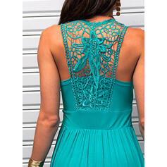 Lace/Solid Sleeveless A-line Above Knee Little Black/Casual/Vacation Skater Dresses