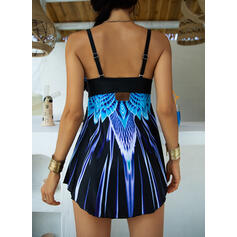 Colorful Gradient Strap Fashionable Beautiful Swimdresses Swimsuits