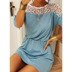 Lace 1/2 Sleeves Sheath Above Knee Casual Dresses