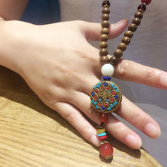 Unique Wooden Beads Women's Fashion Necklace (Sold in a single piece)