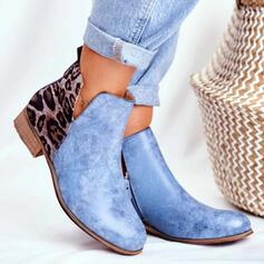 Women's PU Low Heel Round Toe With Animal Print shoes
