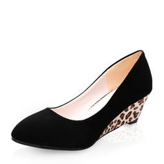 Women's Suede Wedge Heel Pumps Closed Toe Wedges With Others shoes