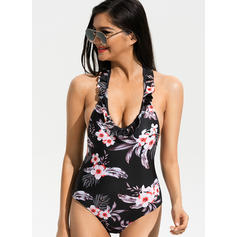 Floral Strap Beautiful One-piece Swimsuits