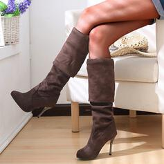 Women's Suede Others Boots Knee High Boots Over The Knee Boots High Top With Solid Color shoes