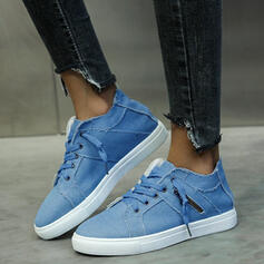 Women's Canvas Low Top Sneakers With Lace-up shoes