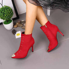 Women's PU Stiletto Heel Pumps Peep Toe With Zipper Lace-up shoes