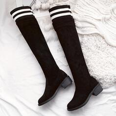 Boots Knee High Boots Over The Knee Boots Snow Boots High Top With Animal Print Elastic Band Colorblock Solid Color shoes
