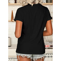 Animal Print Figure Round Neck Short Sleeves T-shirts