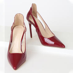 Women's PU Stiletto Heel Pumps Pointed Toe With Hollow-out shoes