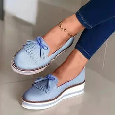 Women's Suede Flat Heel Flats With Tassel Others shoes