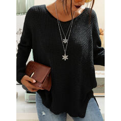 Solid One Shoulder Casual Blouses